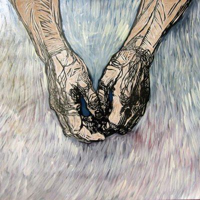Between my hands